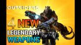 Outriders: 4 NEW AMAZING! Legendary Weapons Coming To Outriders l Mods & Stats  (Outriders Guide)